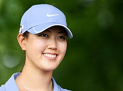 Michelle Wie - the cute, friendly,  golfer  with South-Korean roots in 2019