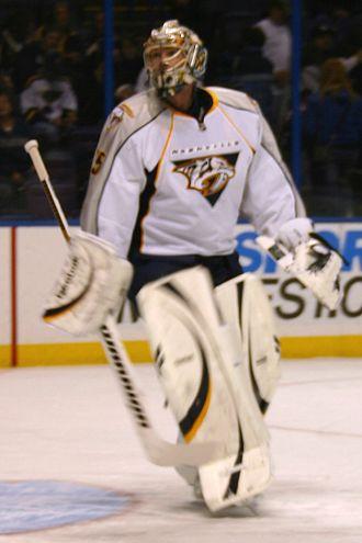 Pekka Rinne - Rinne playing for the Predators in 2010.