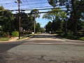 2014-08-29 15 30 31 Intersection of Lower Ferry Road (Mercer County Route 643) and Stuyvesant Avenue in Ewing, New Jersey, with concrete pavement likely dating to the 1950s.JPG