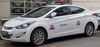 Singapore Police Force - Image: 2014 Hyundai Elantra (MD3) 1.6 Elite sedan, Singapore Police Force (2016 01 03)