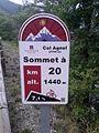 2014 Mountain pass cycling milestone - Col Agnel Château-Queyras.jpg