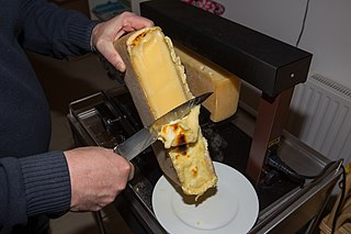 Raclette type of cheese