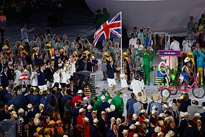 2016 Summer Olympics Parade of Nations - Great Britain entering the stadium with tennis star Andy Murray carrying the flag