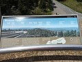 2017-05-17 13 31 22 Sign describing the view west from the observation tower on Clingmans Dome in Great Smoky Mountains National Park, on the border of Sevier County, Tennessee and Swain County, North Carolina.jpg