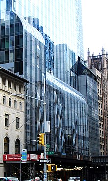 The base of One57 as seen from Seventh Avenue