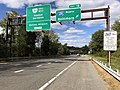 2018-10-24 12 43 18 View west along Virginia State Route 267 (Dulles Toll Road) at Exit 18 (Interstate 495 NORTH, Baltimore) in McLean, Fairfax County, Virginia.jpg