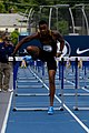 2018 USATF Outdoor National Championships SPC Marcus Maxey- first round of the men's 110m hurdles (28107472017).jpg