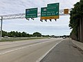 2019-05-21 17 19 13 View south along Interstate 97 (Glen Burnie Bypass) at Exit 12 (Maryland State Route 3 Business, Glen Burnie, New Cut Road) on the edge of Severn and Glen Burnie in Anne Arundel County, Maryland.jpg