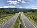2019-07-14 13 05 08 View east along Interstate 68 and U.S. Route 40 (National Freeway) from the overpass for U.S. Route 40 Scenic (High Germany Road) in Bellegrove, Allegany County, Maryland.jpg