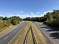2019-10-10 14 26 06 View east along Maryland State Route 32 (Patuxent Freeway) from the overpass for Great Star Drive in Columbia, Howard County, Maryland.jpg