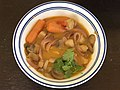 2021-07-18 17 11 09 Soup made with coconut milk, lemon grass, ginger, garlic and red peppers with carrots, mushrooms, chicken, red onions and cilantro in the Franklin Farm section of Oak Hill, Fairfax County, Virginia.jpg