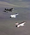 3 three thrust-vectoring aircraft