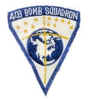 403d Bombardment Squadron - Emblem of the 403d Bombardment Squadron
