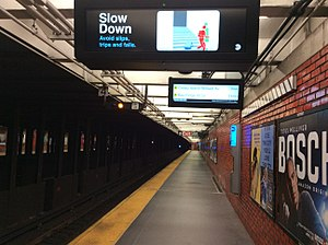 49th Street (BMT Broadway Line) - Downtown platform