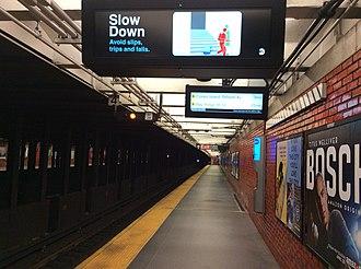 49th Street (BMT Broadway Line) - Downtown platform