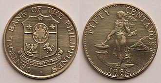Centavo - 50 Philippine centavos (1964).