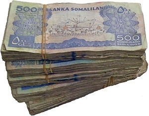 Somaliland shilling - 50 USD equivalent in 2011