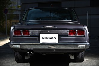 Nissan Skyline - Rear view of 1971 Skyline GT-X