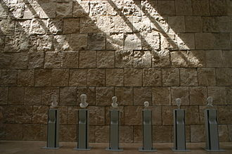 Museum of the Ara Pacis - The portraits of the Julio-Claudian dynasty placed close to the entry