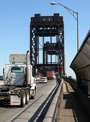 Lincoln Highway Passaic River Bridge - Image: 9 truck Passaic br jeh