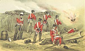 ALEXANDER(1857) British lines under fire