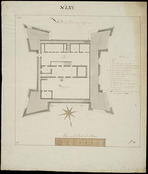 File:AMH-7701-NA Floor plan of the Vredenburg fort at Kommenda.jpg