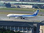 ANA B767-300ER JA616A Taxiing on Taipei Songshan Airport 20131029b.jpg