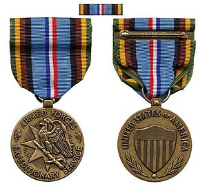 Armed Forces Expeditionary Medal - Image: ARMEDFORCESEXPEDITIO NARYMEDAL