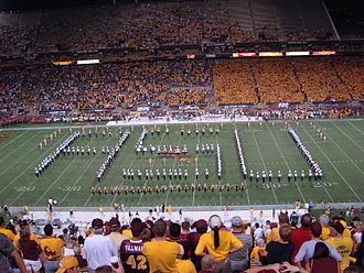 Sun Devil Marching Band - 2007 SDMB spelling out ASU during Pregame.