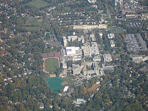 American University - Aerial view of main campus