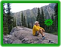 A Man for all Seasons - 'Jimbo' McCarthy - Irish Stock and Jersey roots enjoying Sperry backcountry campsite, Saturday evening, July 21st, 2007 - 10 days before anyone else realizes that its opened early - panoramio.jpg
