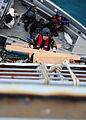 A Moroccan sailor ascends a ladder while conducting a boarding exercise aboard the training ship HS Aris (A 74) at the NATO Maritime Interdiction Operational Training Center in Souda Bay, Greece, May 10, 2012 120510-N-QD416-144.jpg
