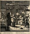 A barber-surgeons shop with anthropomorphic participants. En Wellcome V0011059.jpg