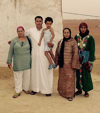Shilha people - A Shilha family