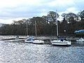 A line of yachts moored at Abersaint - geograph.org.uk - 627160.jpg