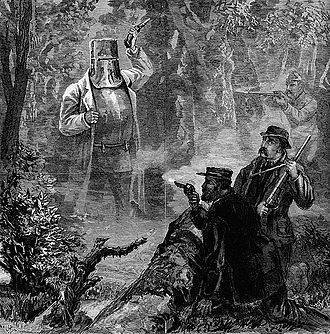 """James Waltham Curtis - """"A strange apparition: Ned Kelly's Fight and Capture"""", by J. W. Curtis, Illustrated Australian News, 17 July 1880."""