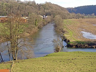 Afon Cych - Confluence of the Cych (right) and Teifi