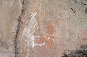 Nourlangie Rock - Image: Aboriginal rock art, Nourlangie Rock, Kakadu panoramio