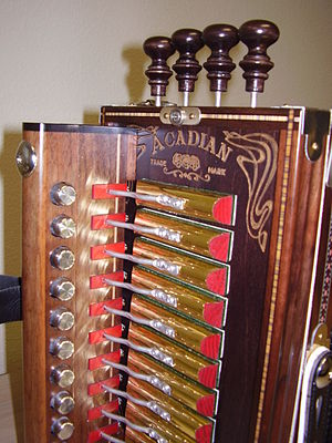 Cajun accordion - Image: Accordion Keys Close