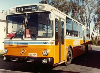ACTION - Ansair bodied Mercedes-Benz O305 at Spence in 1982