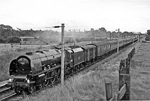 LMS Coronation Class 6235 City of Birmingham - 46235 City of Birmingham on the West Coast Main Line in 1962