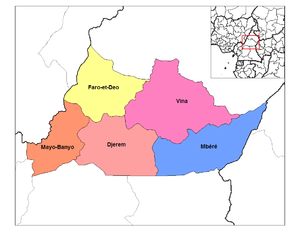 Departments of Cameroon - Divisions of Adamawa province