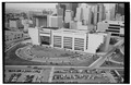 Aerial view of rear (south) elevation - Dallas City Hall, City Hall Plaza, Dallas, Dallas County, TX HABS TEX,57-DAL,1-7.tif