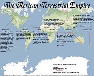 Aerican Empire - Image: Aericamap