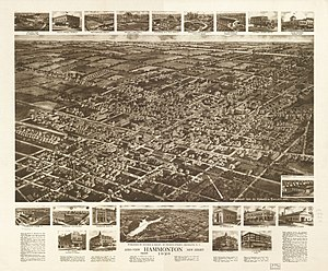 Hammonton, New Jersey - Aerial view of Hammonton, New Jersey (1926)