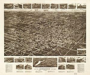Hammonton, New Jersey - Aerial view of Hammonton, New Jersey (1926)