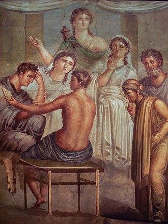 Alcestis (play) - Alcestis and Admetus Ancient Roman fresco (45–79 CE)