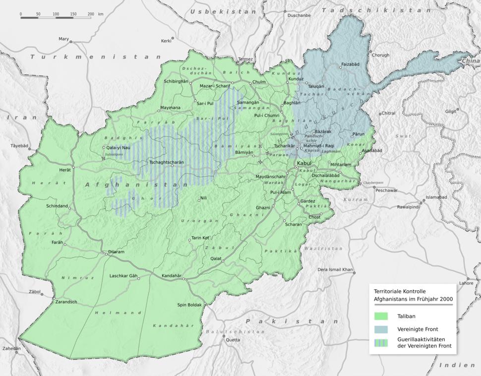 Afghanistan politisch 2000