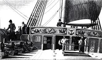 French frigate Méduse (1810) - Aftercastle of Méduse, by Ambroise-Louis Garneray