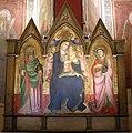 Agnolo gaddi, madonna col bambino, angeli e i santi andrea e lorenzo, 1390 ca., uffizi depositi 2.jpg
